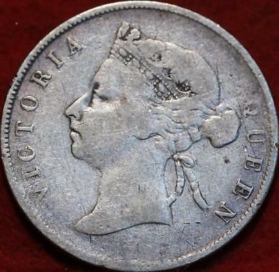 1894 British Honduras 50 Cents Silver Foreign Coin