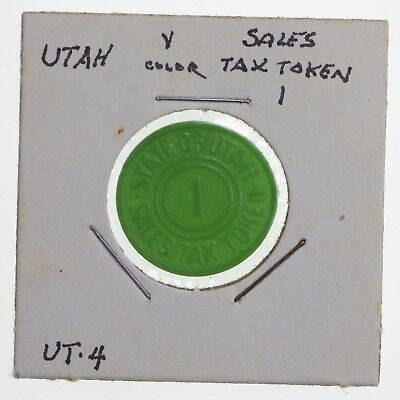 Historic - United States Tax Token - State of Utah Sales Tax 1 Cent *780