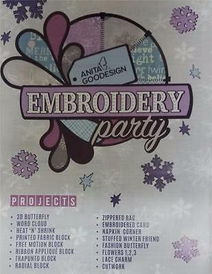 Anita Goodesign-EMBROIDERY PARTY CD & BOOK 15 PROJECTS CD and BOOK 003