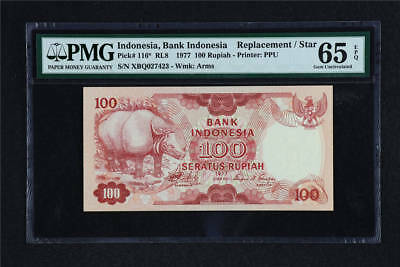 1977 Indonesia Bank Indonesia 100 Rupiah Pick#116* PMG 65 EPQ UNC Replacement