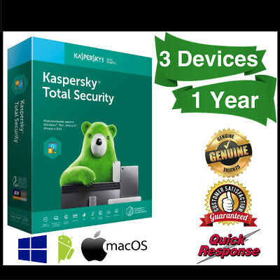 Kaspersky Total Security 2019 3 Device 1 Year | PC | MAC | Android
