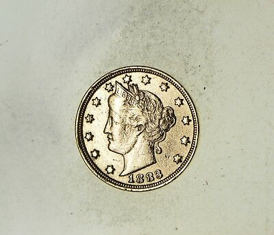 1883 24K Gold Plated 'Racketeer' Liberty V Nickel - Great History *288