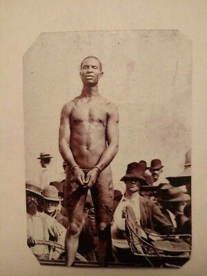 Tintype Of A African American Slave In Chains With Whip Marks R.P. 002