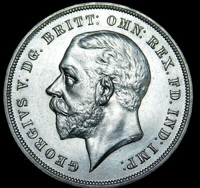 1935 Great Britain One Crown Large Silver Coin 34-582