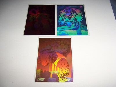 1992 Marvel Universe Comic Cards holograms x3 Thing, Venom and Ghost Rider