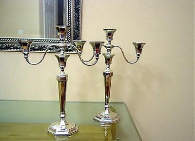 Exceptional Pair Of Antique International Sterling Candelabra Dated 1898