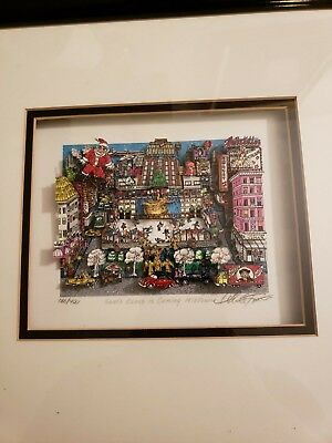 Charles Fazzino Santa Claus is Coming Midtown limited Edition 3D art 186/400