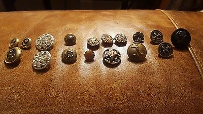 Lot Of 16 Antique/ Victorian Metal Buttons
