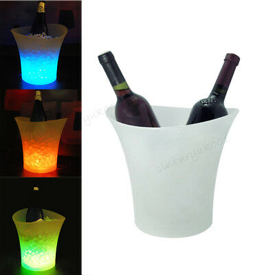 LED Colour Changing Ice Bucket Champagne Beer Wine Drinks Cooler For Bar Party