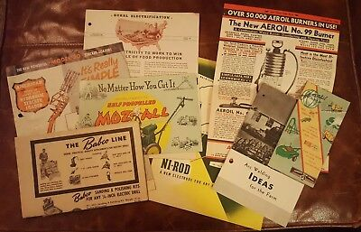 Vintage Tractor And Farm Equipment Brochures Advertising Lot