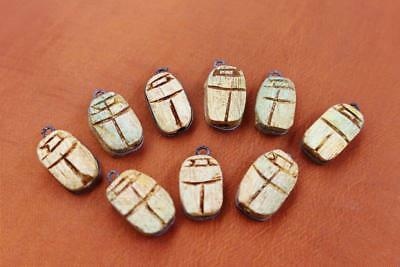 Rare UNIQUE Collection Set 12 Ancient Egyptian Scarab Beetle Amulets & Plaques