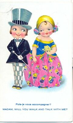 """Carte postale humoristique ancienne : 1935 collection  """"Post Card"""" N° 54"""