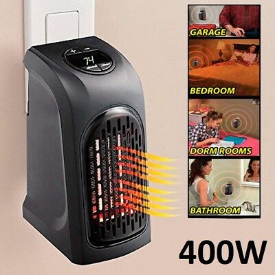Calefactor Electrico Handy 400W Para Pared Sin Cables 2 Velocidades 32ºc Heater