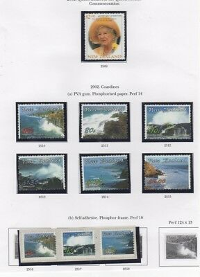A fantastic mint  New Zealand 2001 and 2002 group with Booklet