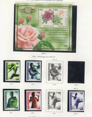 A fantastic mainly mint  New Zealand 1997-99 group with Minisheet