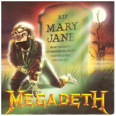 "MEGADETH Mary Jane 7"" VINYL UK Capitol 1988 B/W Hook In Mouth (Cl489) Pic Sleeve"