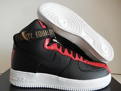 91b7ab81978e AIR FORCE 1 High Black History Month Red Green 836227-002 Equality ...