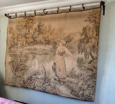 LARGE VINTAGE LATE 19th/Early 20th Century Flemish  TAPESTRY PANEL / WALLHANGING
