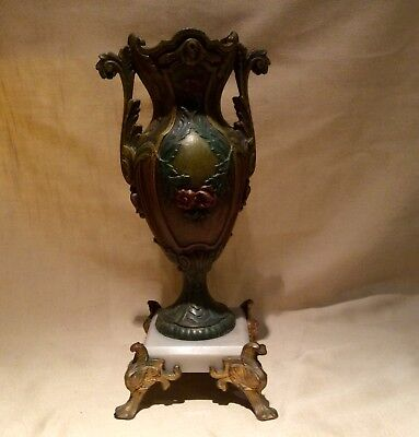 Antique Late 19th Century French Decorative Urn On Marble Base