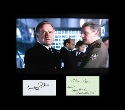 007 James Bond Cast Autograph Terence Rigby (+) & Geoffrey Palmer Tomorrow Never
