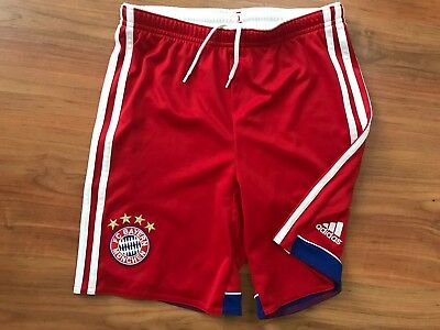 Boys Red ADIDAS BAYERN MUNICH FOOTBALL SHORTS (age11-12) *NICE COND*