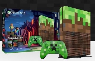 Microsoft Xbox One S Minecraft Limited Edition Bundle 1TB Console FAST FREE SHIP