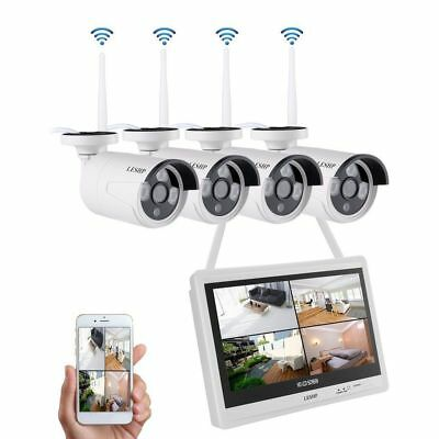 4CH Wireless WIFI 1080P HDMI DVR Outdoor IP Camera CCTV Home Security NVR System