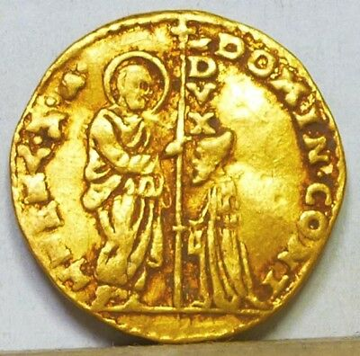 Italy Venice Gold Zecchino ND (1659-1675) Very Fine