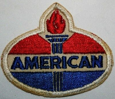 Vintage American Oil Twill Service Uniform Patch With Gauze Back