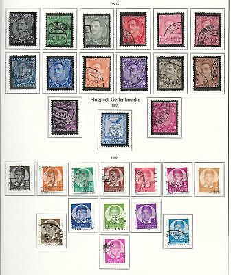 Yugoslavia stamps 1935 Collection of 28 stamps CANC VF HIGH VALUE!