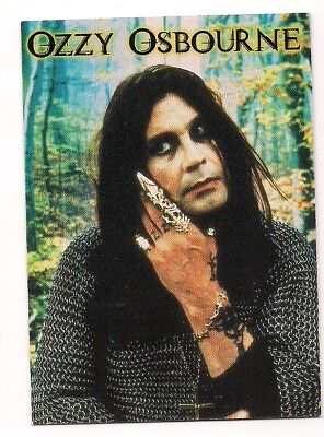 1999 OZZY OSBOURNE Promo Card P1 Rare BLACK SABBATH Glossy Mint NOT IN SET!