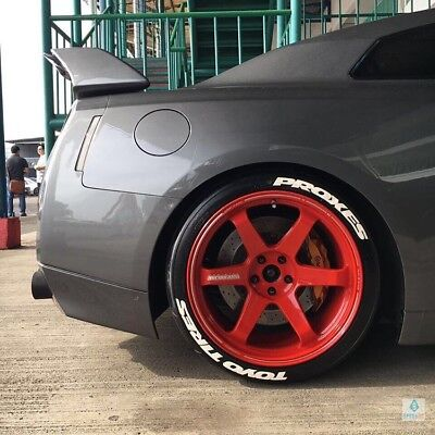 """Tire Sticker TOYO TİRES PROXES Permanent 14""""-----22"""" Wheel Letters"""