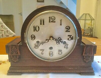 Vintage Mantel Clock - With  Quartz Conversion - Working Order