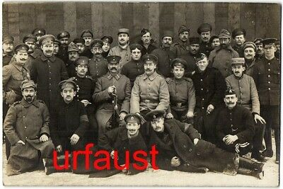 German WWI British French Italian Russian POWs with order Photo 1917