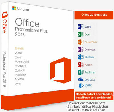 Microsoft Office 2019 PROFESSIONAL PLUS Pro for windows Key 32/64 fast delivery