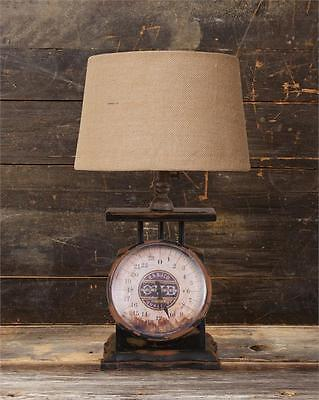 New Primitive Country Antique Style VINTAGE SCALE LAMP Electric Table Light