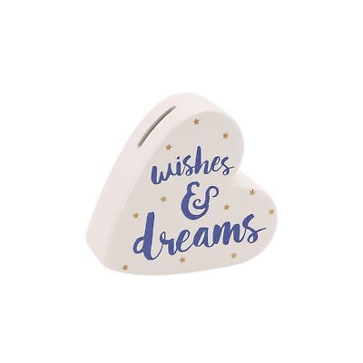CGB Giftware Oh So Pretty herzförmige Sparbüchse Wishes And Dreams (CB781)