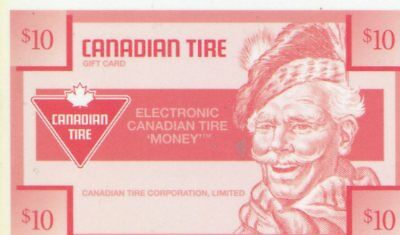 Canadian Tire Money - Gift Card #6951544 10/06