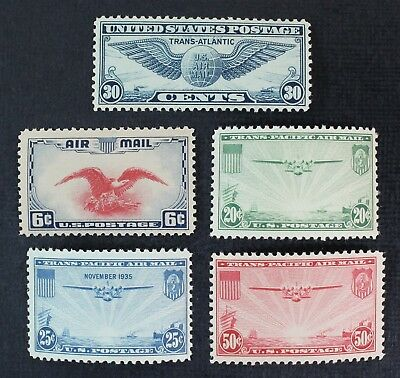 CKStamps: US Air Mail Stamps Collection Scott#C20-C24 Mint NH OG