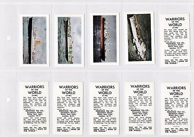 Reddings Trade Cards  Warriors of the World with Ships of the World fronts Rare