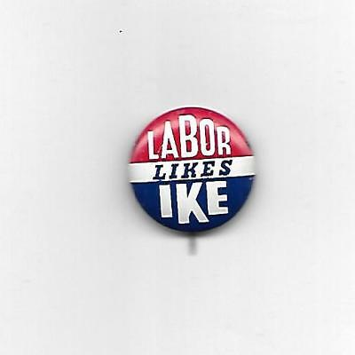 1950's Labor Likes Ike Pin