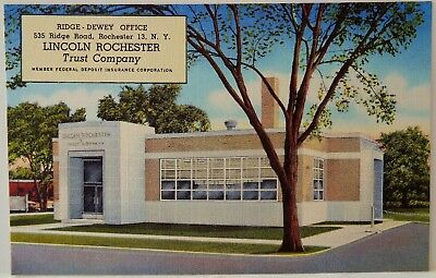 Lincoln Rochester Bank & Trust / Rochester, NY / Curteich Linen Advertising PC