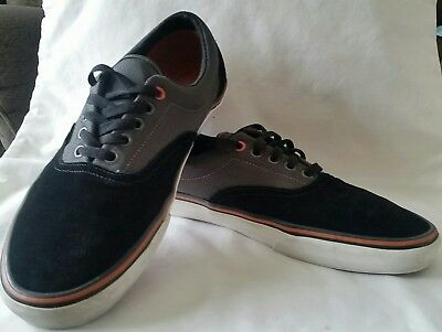 e944dcac7d Vans Era Two Tone Black Suede and Grey Canvas Sneakers Men s Skate Shoes  Size 12