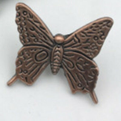 Vintage Simulation Art Butterfly Kitchen Cabinet Drawer Wardrobe Door Knobs LD