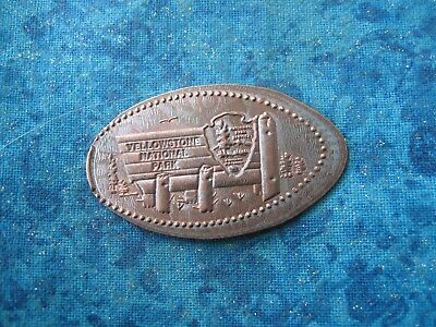 YELLOWSTONE NATIONAL PARK SIGN Elongated Penny Pressed Smashed 26