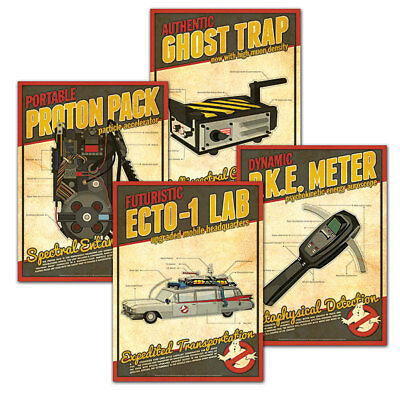Tools Of The Ghostbusters Mini Poster Set of 4 (Each Print Is 5x7) > Proton Pack