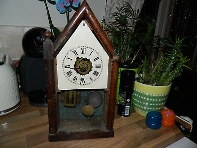 New Haven Steeple Clock For Spares