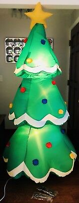 GEMMY 7' Inflatable Lighted Christmas Tree Airblown Yard Blow Up Decoration