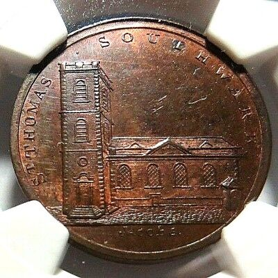 Middlesex - Skidmore's Conder Token Dh - 675A - 1/2P - Ngc Ms - 64 Red/brown- Nr
