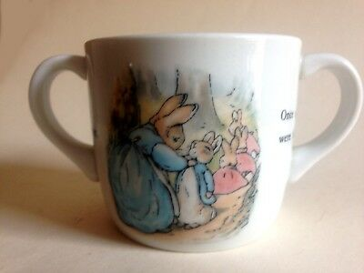 Vintage Peter Rabbit Double Handled Mug Wedgewood